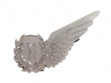Navigator Royal Air Force RAF MOD Single Wing Nickel Pin Badge / Brevet